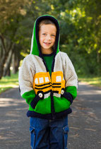 School Bus Alberth Knit Zip Hoodie- Boy