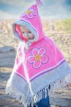 Pink Yolanda Flower Poncho
