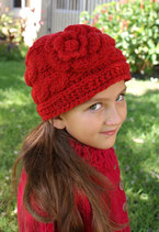 Red Wool Clara Beanie /Hat