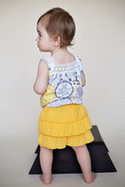 Yellow Blume Diaper Cover