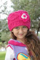 Fuchsia Wool Gloria Beanie /Hat