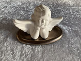 Duftkeramik Engel mit goldenem Unterteller