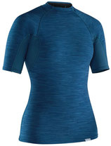 NRS Women's HydroSkin 0.5 mm Shirt short sleeve blue