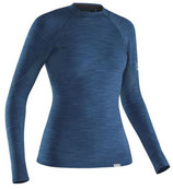 NRS Women's HydroSkin 0.5 mm Shirt long sleeve blue