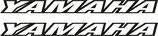 2 lettrages Yamaha ajouré pour phase 1