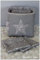 Corbeille de toilette et ses 8 lingettes de soin Liberty Jugendstil