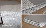 **RESERVEE ELODIE** Couverture plaid molletonnée 140x90cm grise et blanc étoilé