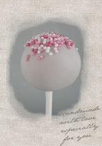 Himbeer cake pops