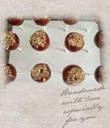 Haselnuss-Nougat cake pops