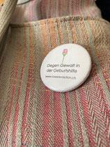 Button «Gegen Gewalt in der Geburtshilfe»