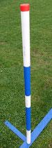 "1 Stk. Agility Slalomstange ""Blue/White"" orig. Callieway®  - für 20/22 bzw. 25mm Steckhülsensystem"