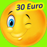Je fais un Don de 30€  (10,20€ après réduction d'impôt,  à hauteur de 20% du revenu imposable) ²