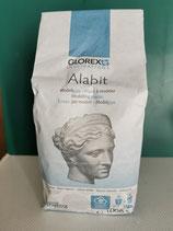 """""""Alabit"""" 1 kg, sehr schnell trocknender schneeweisser Modellbaugips."""