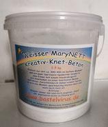 Feiner schneeweisser Kreativ-Knet-Beton aus dem Hause MaryNETT 2,5 kg