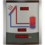 Smart Display SD3 - Anzeigentafel für den Wohnbereich mit 3 Anzeigen für Kollektor- und Speichertemperatur sowie die Wärmemenge