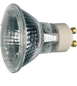 Halogen-Hochvoltlampe GU10,220-240V, MR16, UV-Filter, klar, 50mm