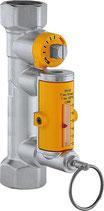 Strangregulierventil mit Durchflussmesser für Solaranlagen 3/4'', 2-7l/min.
