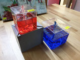 Öllampe Glas mit Docht 7.5x7.5x7.5 cm