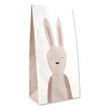 Geschenktüte Hase rosa (6 Stück)