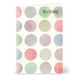 Birthday Aquarell-Punkte