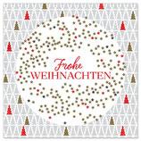 Frohe Weihnachten rot/gold