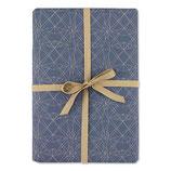 Schenkpapier (Bogen) Grafik blau