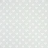Geschenkpapier Herz Weiß (Rolle)