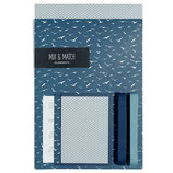 Geschenkpapier-Set Vögel Blau