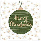 Merry Christmas Kugel grün