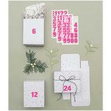 Geschenkschachteln (24 Stück) Weiß mit silber Sternen