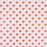 Geschenkpapier Herz rot (Rolle)