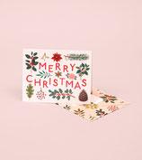 Merry Christmas Card - cream -