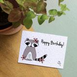 Happy Birthday Waschbär