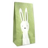Geschenktüte Hase grün (6 Stück)