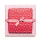 Geschenkpapier Bogen Triangel - Dunkelrot