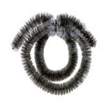 Nabenputzringe schwarz+silber 14mm, 19cm / 35cm