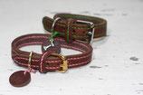 Fettleder Halsband 2cm