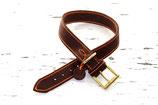 Fettleder Halsband 4cm