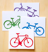 bike cards - set of all 4