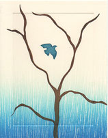 bird+tree, blue woodsy fade