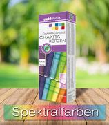 Chakrakerzen 7er Packung, in den Regenbogenfarben