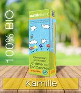 Bio Kinder-Ohrkerzen 10er Packung, Kamille