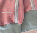 Bald im Shop: Wunderbare Chill-Hose, Rosa/Hellblau, kuschelig, Größe 40