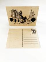 Holzpostkarte Dom & Severi