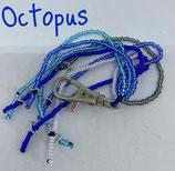 """""""Octopus"""" - Glasperlenanhänger, ca. 18 cm Länge"""