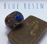 """Magnethalter """"Blue Resin"""", Wacholder, L ca. 55 mm, D ca. 25 mm, Haltekraft > 150g"""