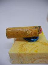 "Magnethalter ""Leicht-Matrose"", geöltes Holz, L ca. 55mm, D ca. 15mm, Haltekraft ca. 100 g"