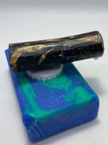 """Magnethalter """"SchwarzGold"""", Holz, L ca. 60mm, D ca. 20mm, Haltekraft > 100g"""