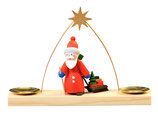 Tischleuchter Weihnachtsmann