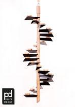 """Lichtspirale Helix Modell """"Berghof"""" Natur Dunkel"""